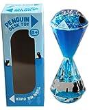 Tobar pinguino giocattolo scrivania 13cm a forma di gioiello a forma di clessidra liquido blu bambini per età 8 +