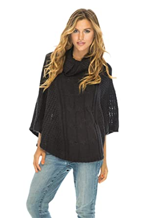 dc799a73ab8 Poncho Amour Black at Amazon Women s Clothing store