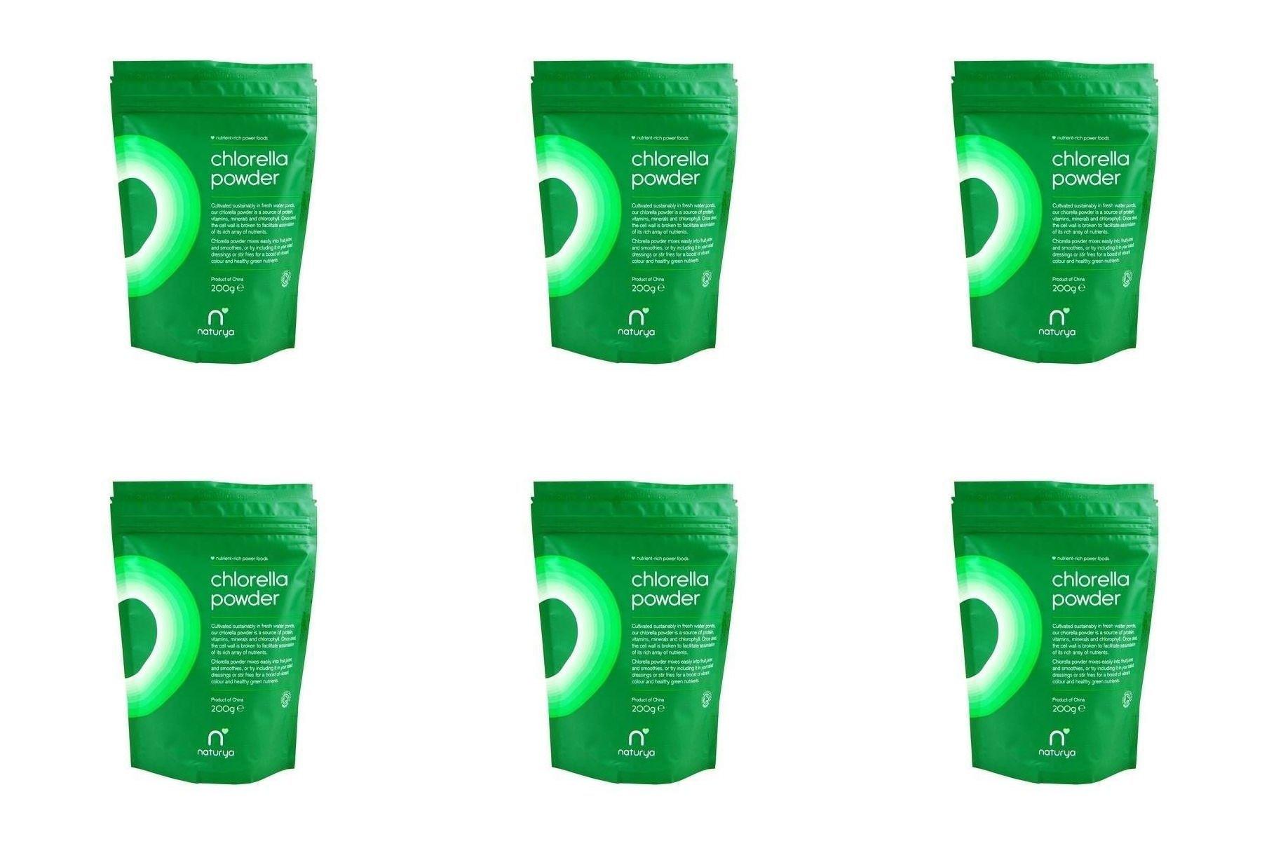 (6 PACK) - Natuyra Organic Chlorella Powder   200g   6 PACK - SUPER SAVER - SAVE MONEY