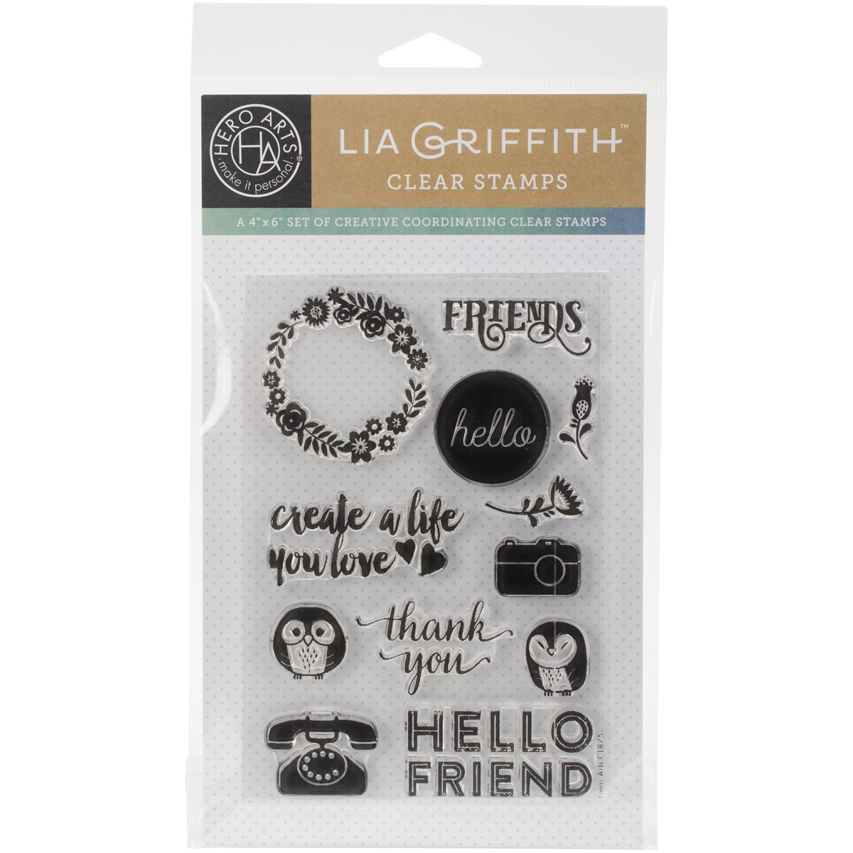 Hero Arts Hear Clear Stamps by Lia 10,2 cm x 15,2 cm Sheet-Friends