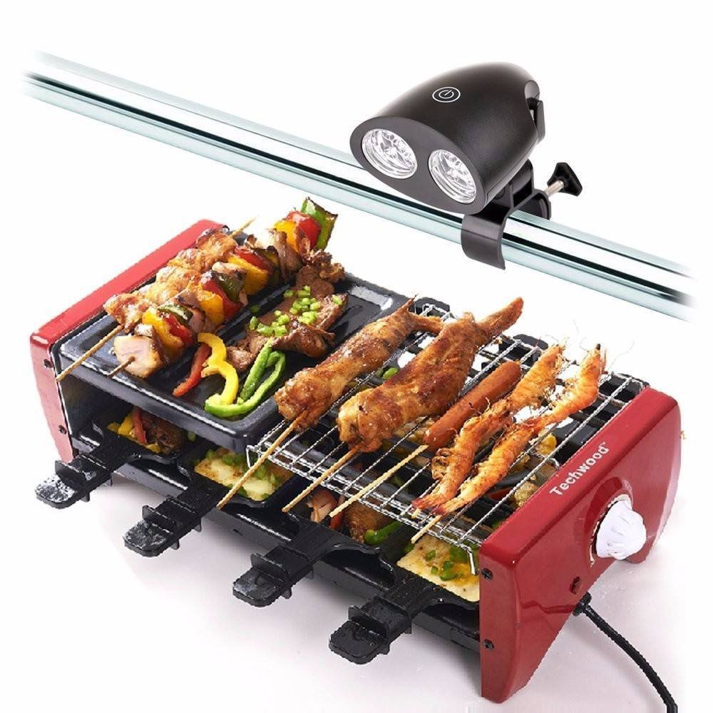 OUTERDO Barbecue Grill Light With 10 Super Bright LED Lights-Handle Mount BBQ Light for Grilling At Night,Heat & Water Resistant,Simple Installation,Touch Sensitive Switch by OUTERDO (Image #1)