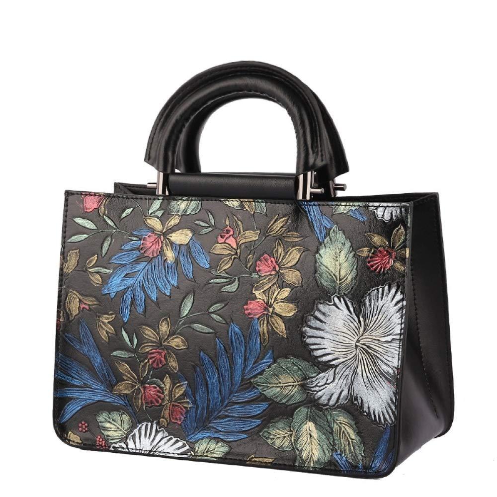 8f392e27aa49e ... DLTEY DLTEY DLTEY Vintage handgemalte Blaumen Diagonal Umhängetasche  Original Design Qualität Leder Handtasche Tote Bag B07PJ9WTZY ...