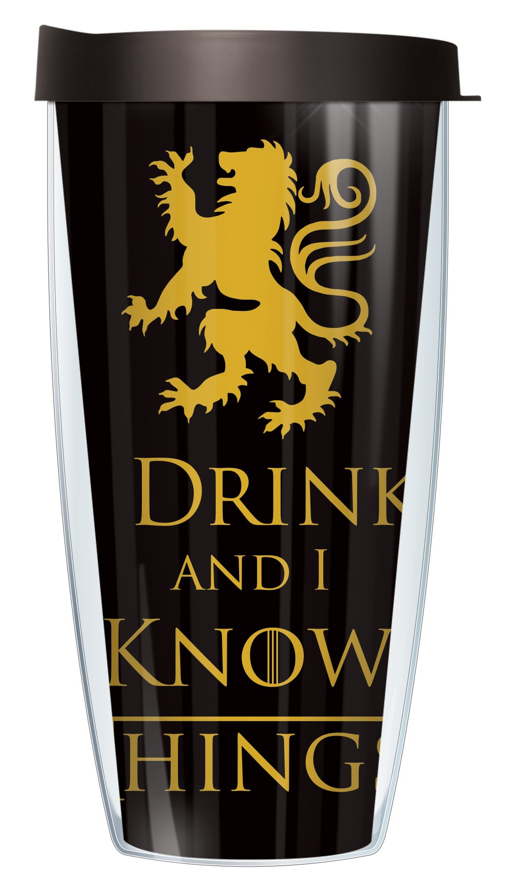 I Drink and I Know Things 22oz Mug Tumbler Cup with Black Lid