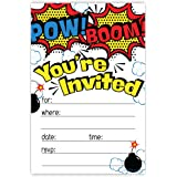 Amazoncom Superhero Comics Party Supplies Invitations 8
