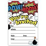 Superhero Birthday Party Invitations 20 Count With Envelopes