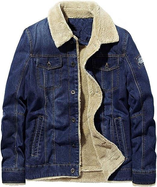 冬の厚いデニムコートメンズジャケットプラスベルベットウォームジーンズジャケットメンズカジュアルファー厚いウールデニムパーカー