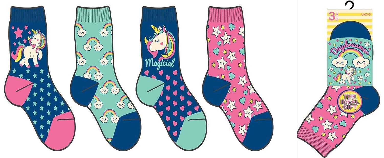 Girls Boys 6 or 12 Pairs Childrens Kids Soft Socks Designer Character Print
