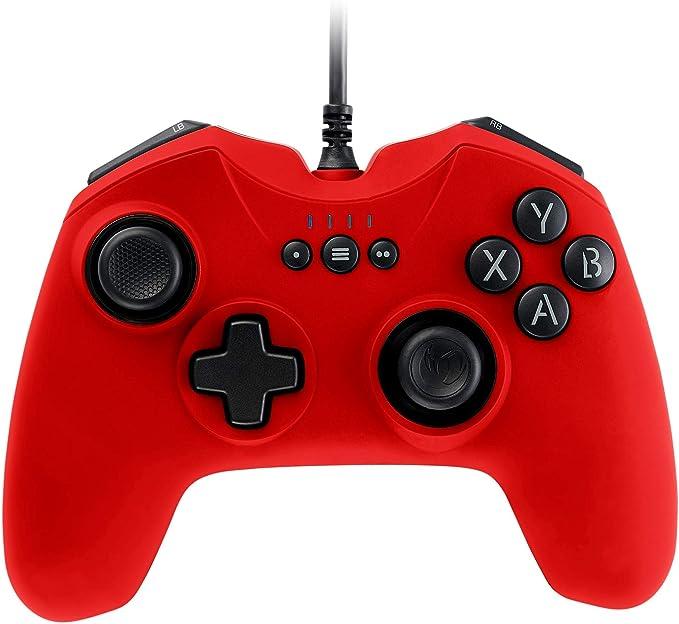 Nacon - Controlador Gaming, Color Rojo (Windows XP, Vista, 7, 8, 10)