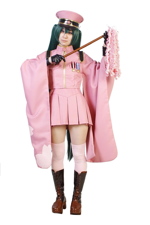 barato y de alta calidad Traje cosplay de de de la nucleocpside Oh Senbonsakura Hatsune Miku 9 piezas tamao del conjunto del uniforme del kimono S gorra militar (japn importacin)  clásico atemporal