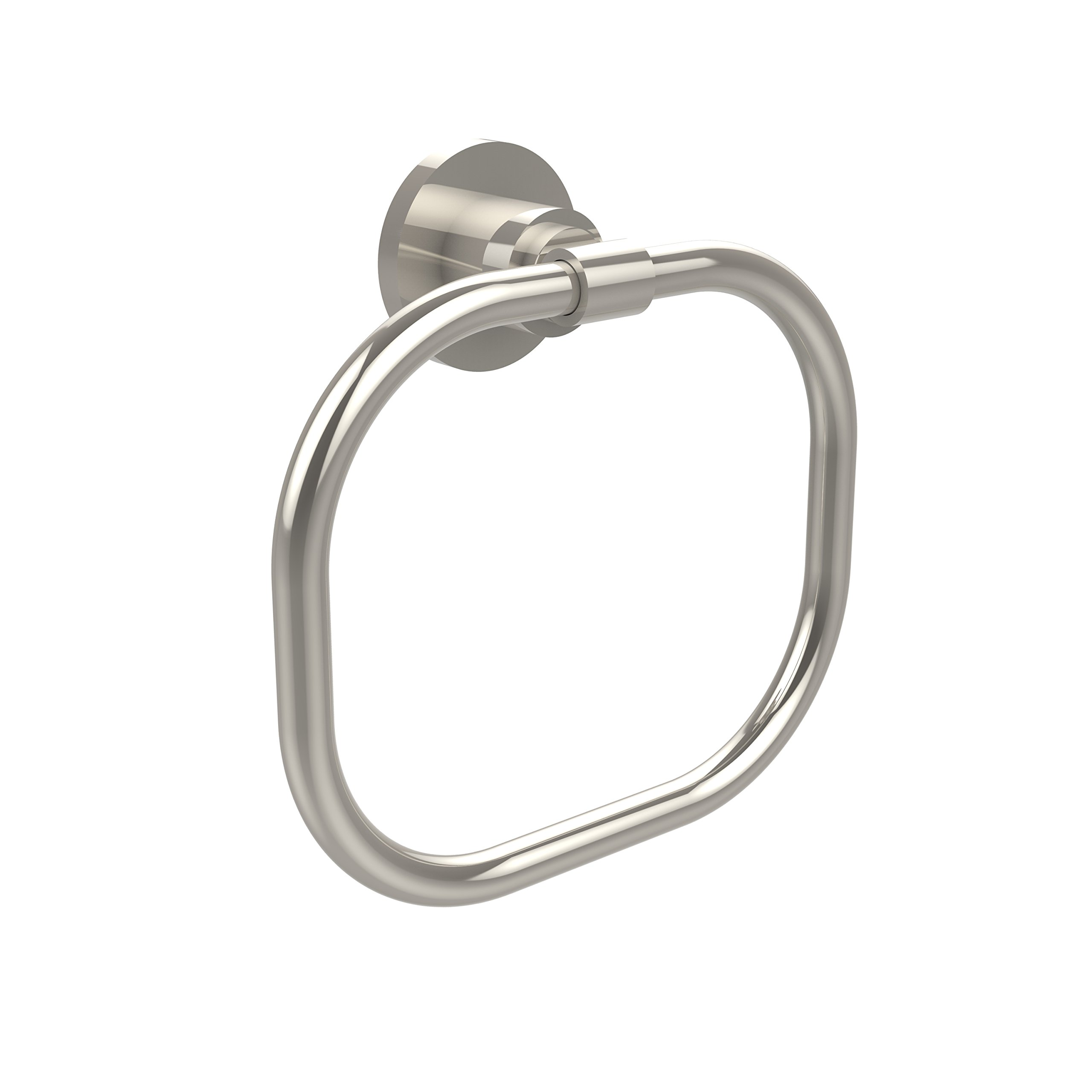 Allied Brass WS-16-PNI Washington Square Collection Towel Ring Polished Nickel