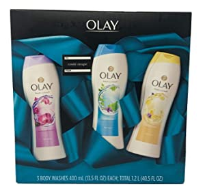 Olay Fresh Outlast Body Wash Gift Set, 13.5 Ounce Bottles, 3 Pack