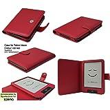 Tasche für Tolino Vision Vision 2 Vision 3 HD Vision 4 HD von Bertelsmann Weltbild Thalia Telekom Hugendubel - bestes Case für Tolino Vision E-Book Reader - rot / red