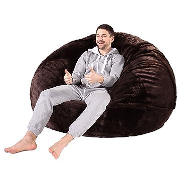 65cacca89516 Lounge Pug® - CLOUDSAC - Huge Memory Foam - Fluffy FAUX FUR - GIANT Bean