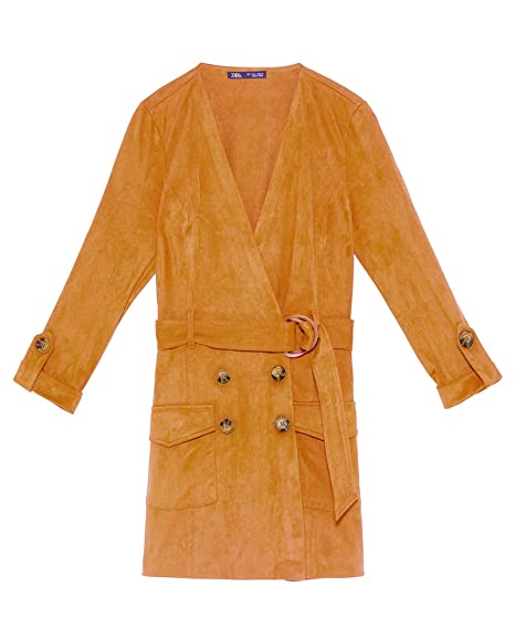 1c9ed40c43e Zara Women s Faux Suede Jumpsuit Dress 7901 100  Amazon.co.uk  Clothing