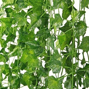 86fb55683b3891 42 Pièces de Lierre Artificiel Lierre Artificiel-Plante Artificielle,Feuilles  Artificielles,Faux Lierre