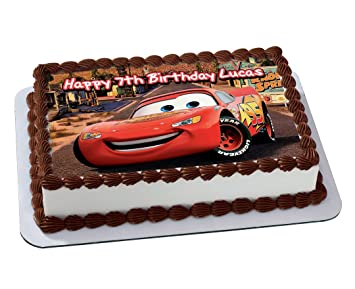 Cars 3 Lightning Mcqueen Disney Quarter Sheet Edible Photo Birthday