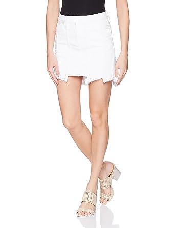 2a5a82d1dc Hudson Jeans Women's Weekender Step Hem Jean Skirt at Amazon Women's  Clothing store: