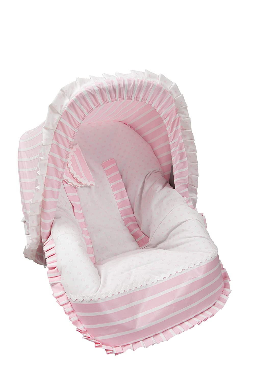 color rosa Babyline Oporto Colchoneta para silla grupo 0