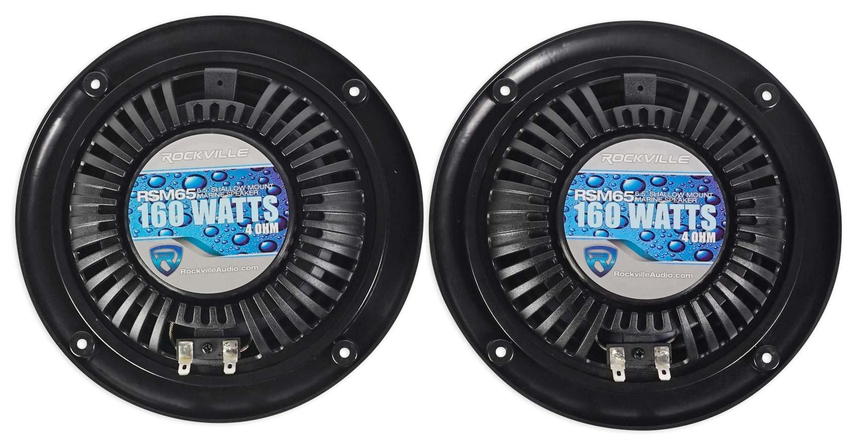 2 Rockville RSM65B 6.5'' 320w Waterproof Shallow Slim Speakers 4 RZR/ATV/UTV/Cart by Rockville (Image #5)