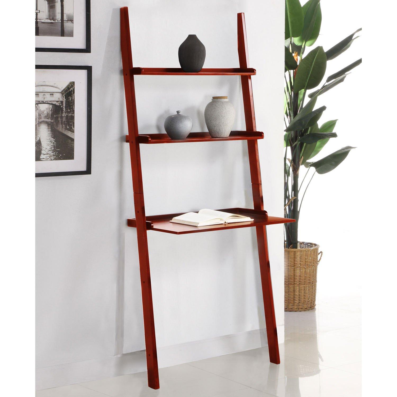 Home & Kitchen Mintra Cherry Finish 3-Tier Laptop Book Shelf ...