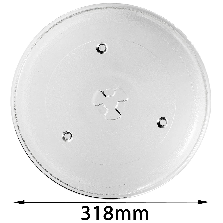 Spares2go cristal Tocadiscos placa para Sanyo horno de microondas ...