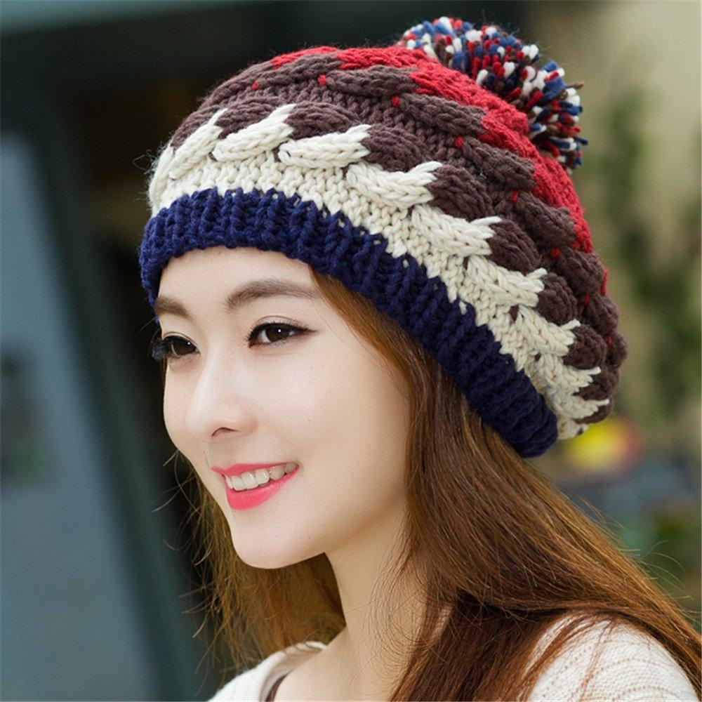 MAOZIMAOZI Novia Novio Regalos de vacacionesNovia Novio Sombrero de Mujer  Dama Encantadora Tejer Sombrero en Invierno Moda otoño e Invierno Ear Beret  Caps ... 4c5f3684d5e