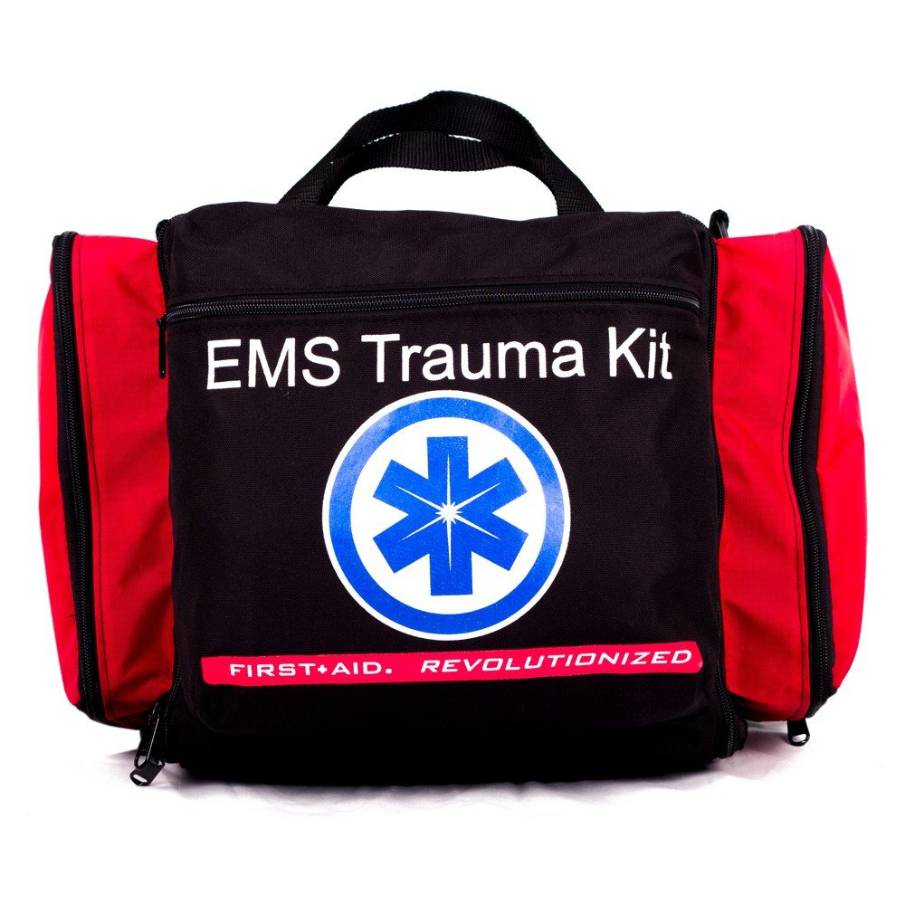 Deluxe Ems-Style Kit By Nutristore | First Aid Ems Kit Including First Responder Medical Supplies In A Large Emergency Trauma Medic Bag