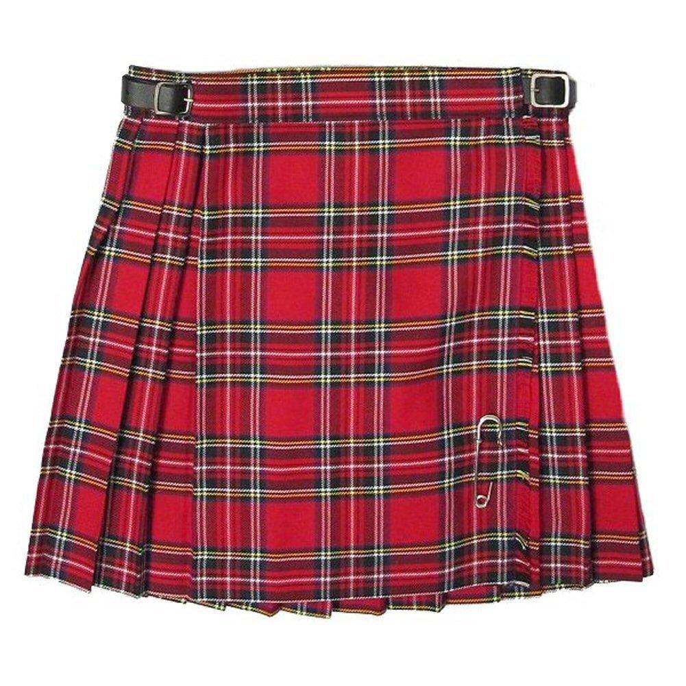 New Girls Pleated Royal Stewart Tartan/Plaid Scottish Kilt Skirt Ages 2 - 14 Glen Appin