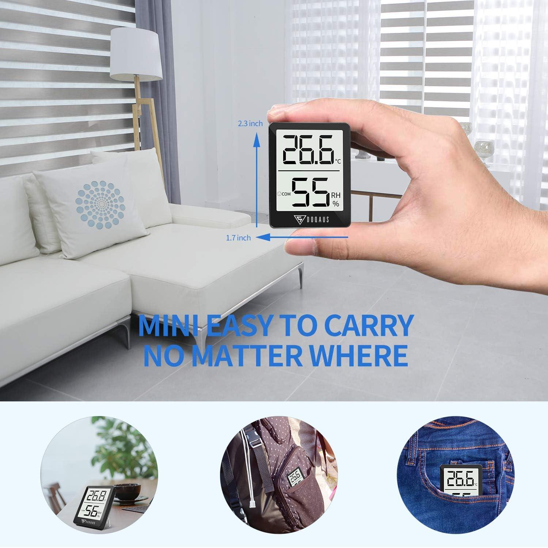 DOQAUS Thermometer Innen für Innenraum Babyraum Wohnzimmer 18 Stück