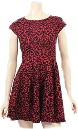 Papillon Womens Girls Flock Design Skater Dress b39464641d