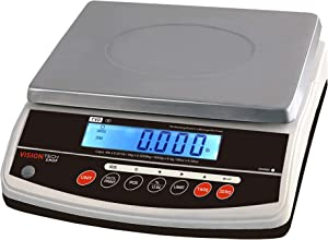 VisionTechShop TVD-6 Digital Bench and Counter Scale, Lb/Oz/Kg/g Switchable, 6lb Capacity, 0.001lb Readability, Counting and Percentage Mode, Single Display, NTEP Legal for Trade, CC# : 20-032