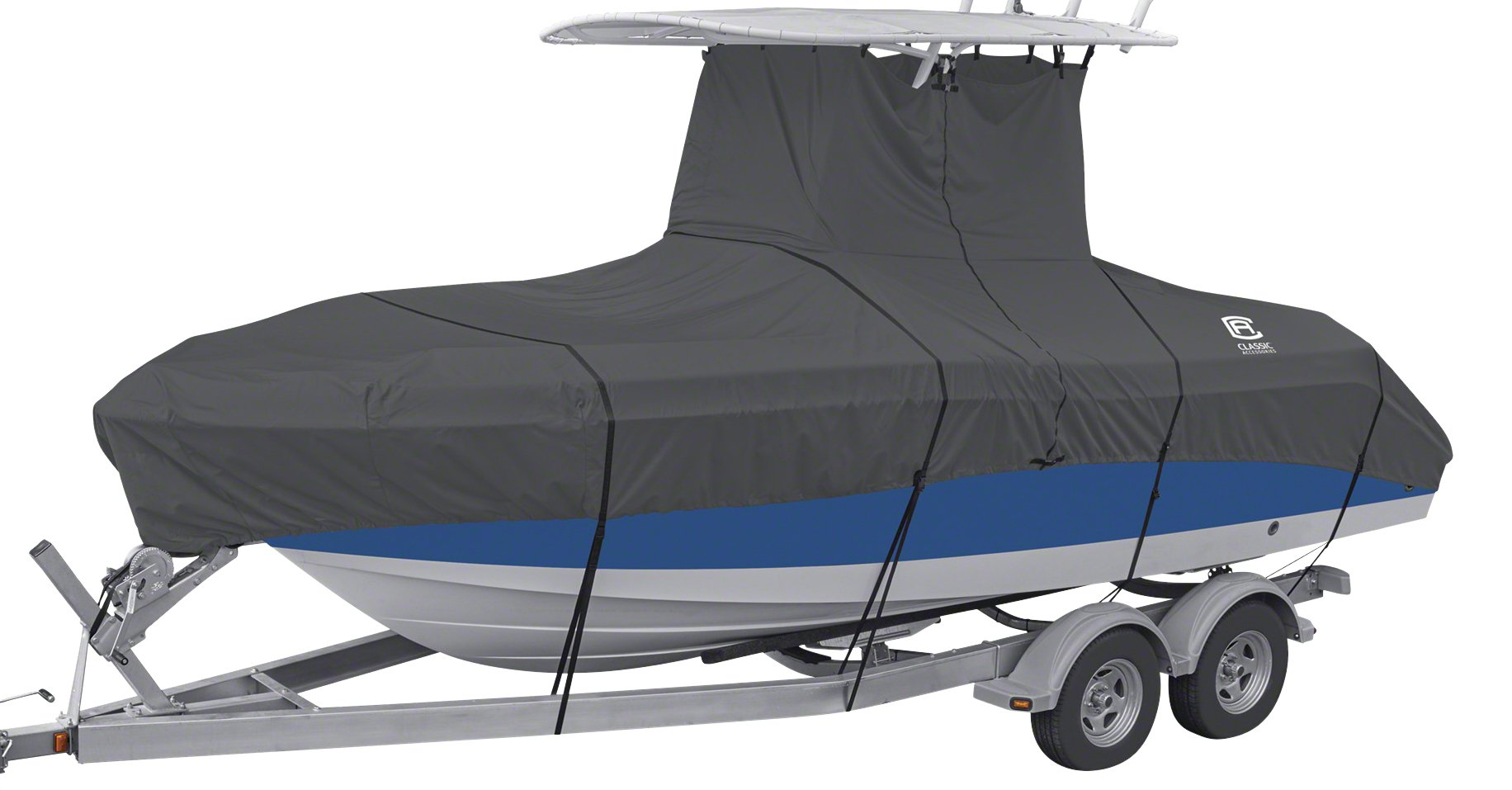 Classic Accessories StormPro Heavy Duty Center Console T-Top Roof Boat Cover, For 20'-22' Long, up to 106'' Beam Width by Classic Accessories