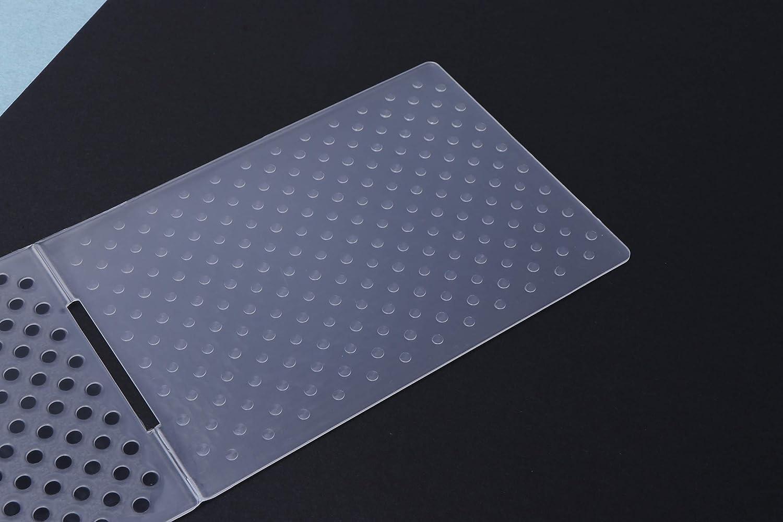 ZJL220 mod/èle de Dossier de gaufrage en Plastique pour Album de Bricolage Album Photo Carte Papier Artisanat Motif de Point