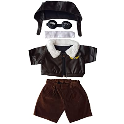 "Pilot Outfit with Goggles Teddy Bear Clothes Fits Most 14"" - 18"" Build-a-bear and Make Your Own Stuffed Animals : Toys & Games"