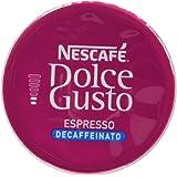 NESCAFÉ DOLCE GUSTO ESPRESSO Decaffeinato caffè espresso decaffeinato 6 confezioni da 16 capsule [96 capsule]