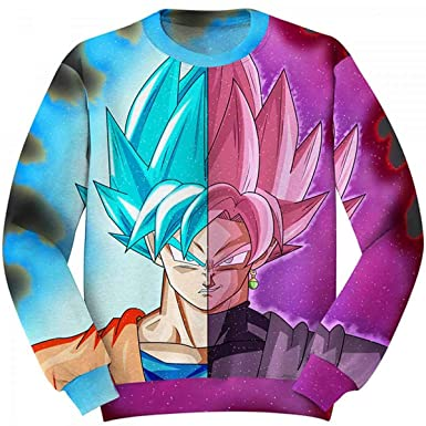 3D Anime Sweatshirt Men Goku Ultra 3D Print Pullover Top Streetwear Tracksuit at Amazon Mens Clothing store: