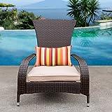 Sundale Outdoor Deluxe Wicker Adirondack Chair
