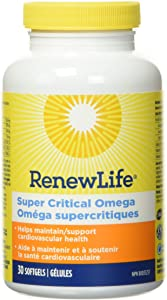 Renew Life Norwegian Gold Adult Fish Oil - Super Critical Omega, Fish Oil Omega-3 Supplement - Gluten & Dairy Free - 30 Burp-Free Softgel Capsules