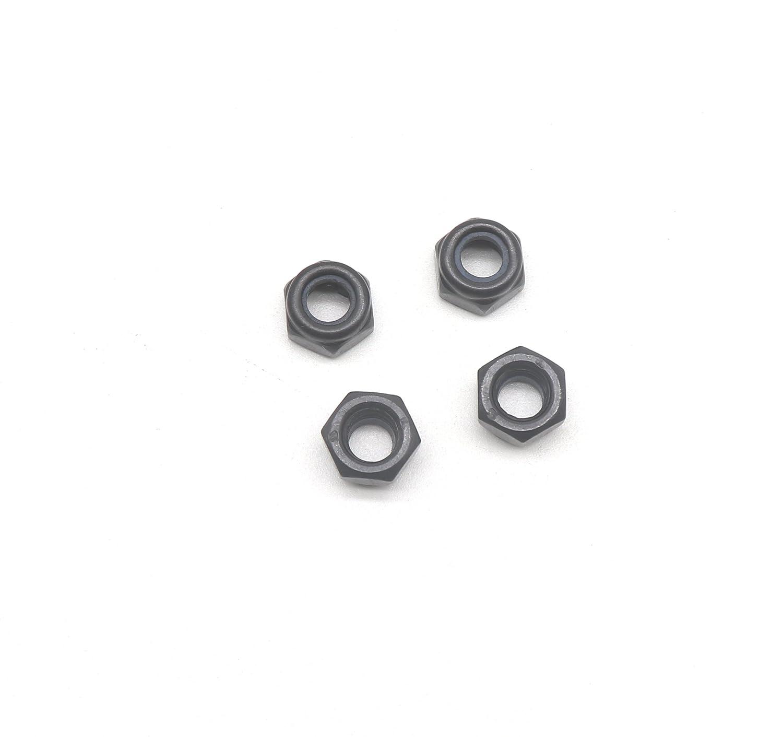 binifiMux 50Pcs M5 X 0.8MM Black Zinc Plated Nylon Lock Nuts Inserted Hex Self Clinching Nuts