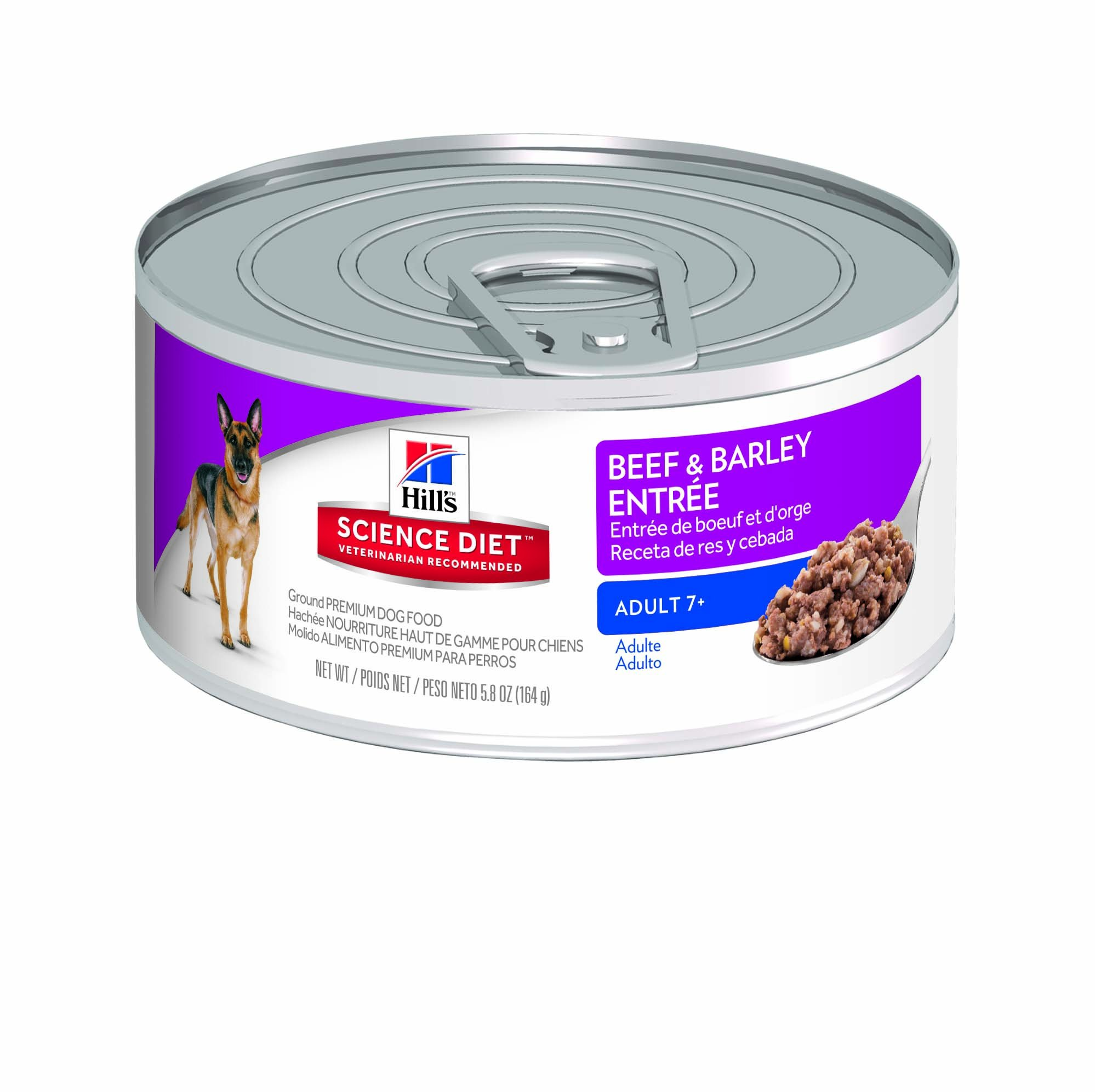 Hill's Science Diet Wet Dog Food, Adult 7+ for Senior Dogs, Beef & Barley Recipe, 5.8 oz, 24-pack