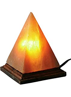 pyramid himalayan salt rock lamp with dimmer switch pink sea salt crystas by jic gem - Universal Lighting And Decor