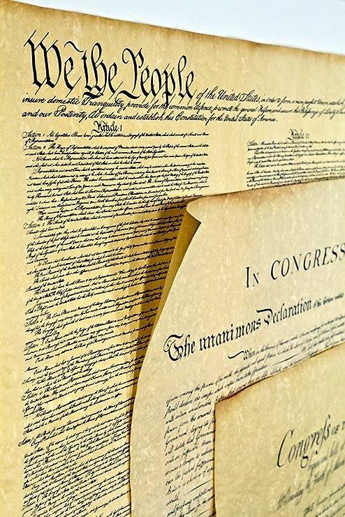 Amazon|ポスター アメリカ独立宣言 16インチ x 14インチ ...