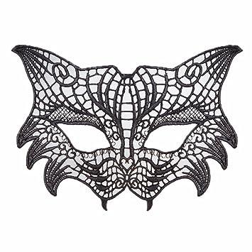 PromMask Mascara facialNiños Maquillaje Festival Danza Sexy Negro Encaje máscara Fiesta de la Tiara diversión Calado