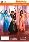 Simplicity the Dance Studio Andrea Schewe Pattern 2941 Misses Belly Dance Costumes, Sizes 6-8-10-12