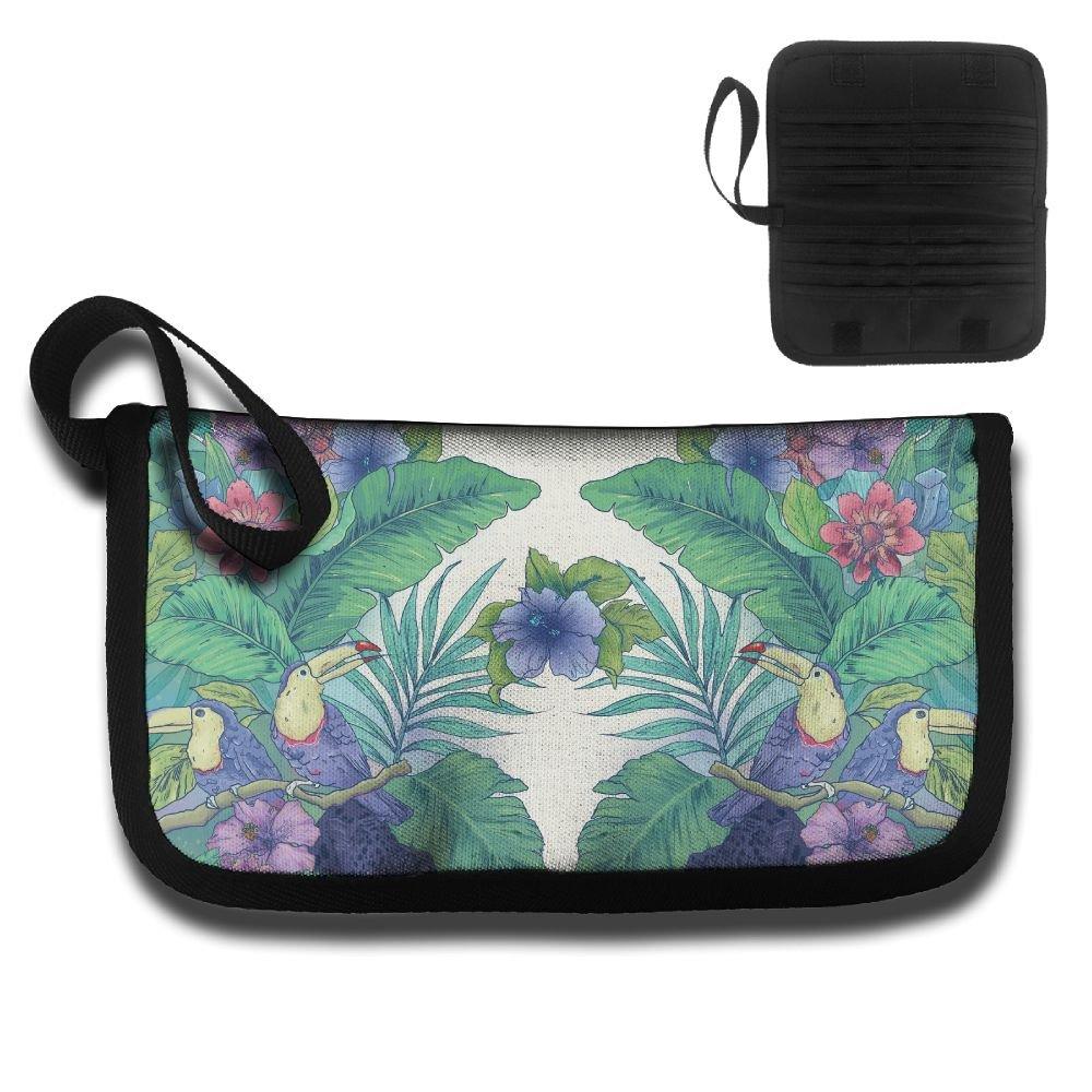 Gili Parrot Watercolor Travel Passport /& Document Organizer Zipper Case