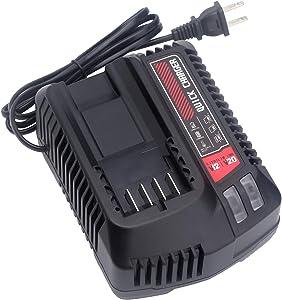 Biswaye 20V MAX Battery Charger CMCB104 Compatible with CRAFTSMAN V20 Lithium Battery CMCB204 CMCB202 CMCB201 CMCB209 CMCB205 CMCB100 CMCB102 CMCB101 (Only for V12/V20 Series)