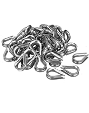 uxcell® 304 Stainless Steel Chain Thimble for 1/4 inch (6mm) Diameter Wire Rope 50pcs