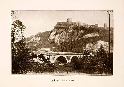 1905 Halftone Print Chateau Gaillard France Seine Richard Lionheart ...