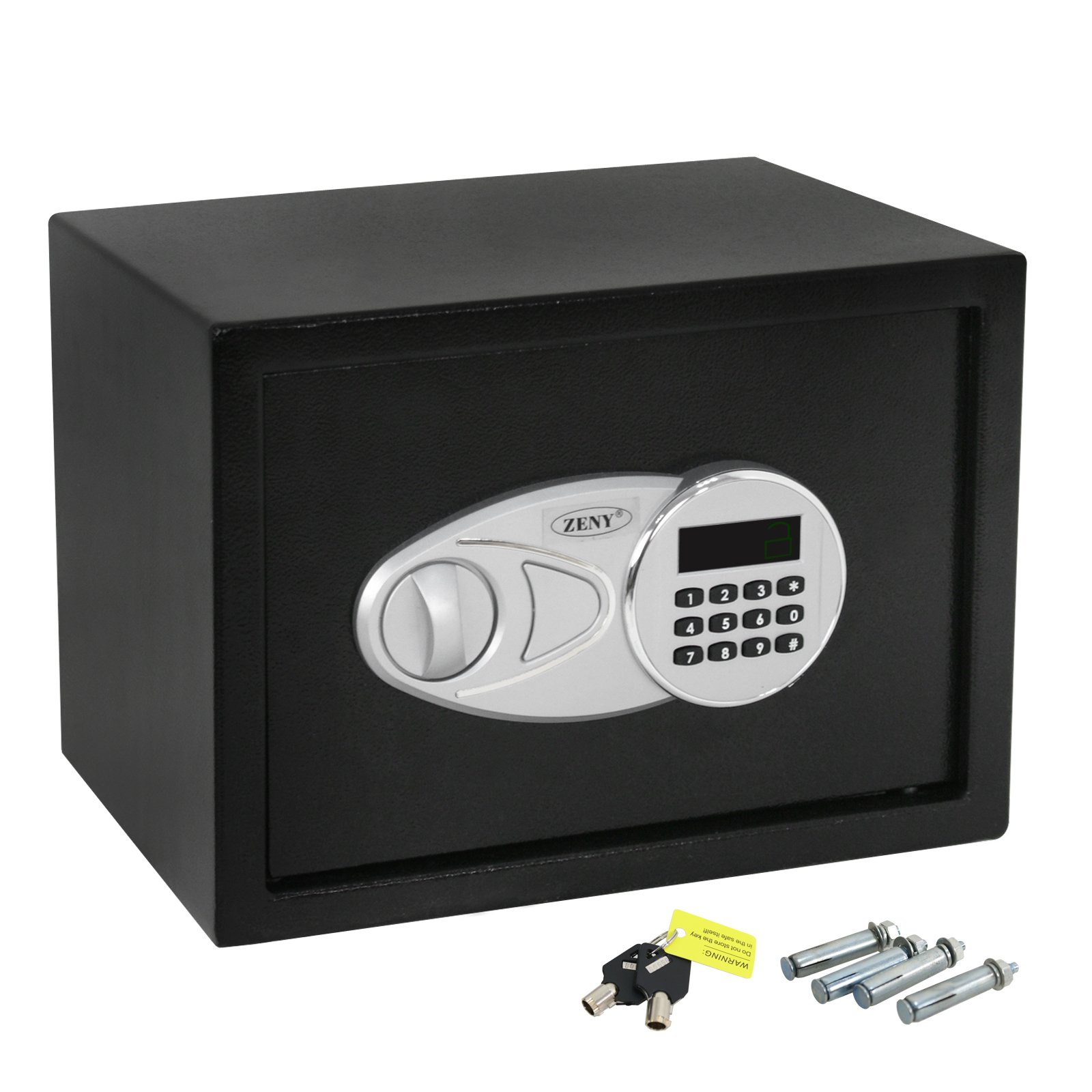ZENY Digital Security Safe Box Sturdy Construction w/Electronic Lock, 2 Emergency Override Keys (#02)