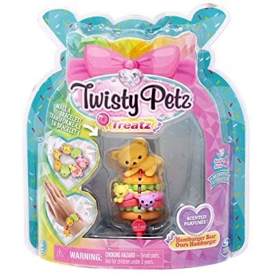 Twisty Petz Treatz - Hamburger Bear - Series 4: Toys & Games